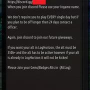 guild announcement